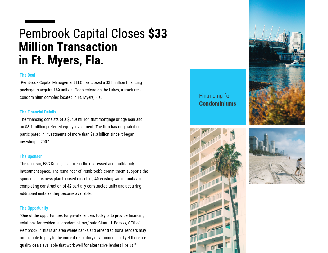 Pembrook Closes $33M Deal in the City of Palms