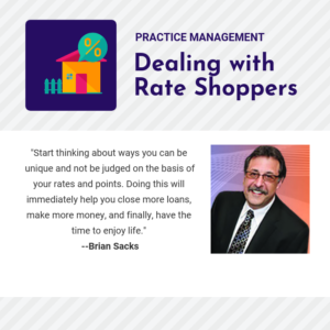 There are strategies for avoiding selling based on rates and fees.